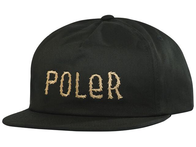 POLER Fur Font Snapback - Couvre-chef - noir